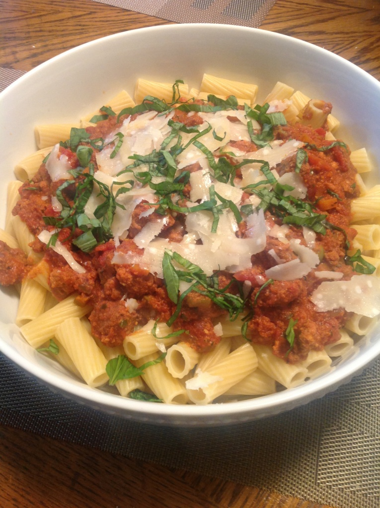 Pasta with Slow Cooker Bolognese Sauce